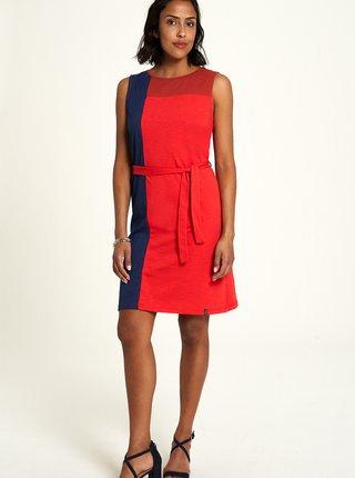 Modro-červené šaty Tranquillo