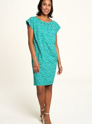 Tyrkysové vzorované šaty Tranquillo