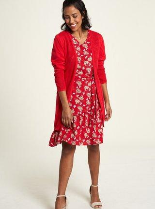 Červené květované šaty Tranquillo