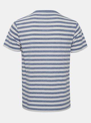 Modré pruhované tričko Blend