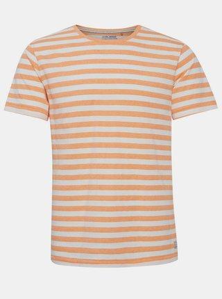 Oranžové pruhované tričko Blend