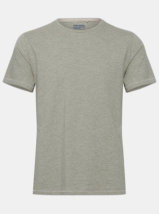 Šedozelené žíhané basic tričko Blend