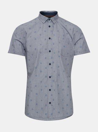 Svetlomodrá vzorovaná slim fit košeľa Blend