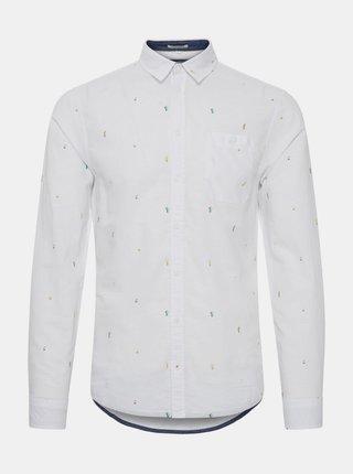 Bílá vzorovaná slim fit košile Blend
