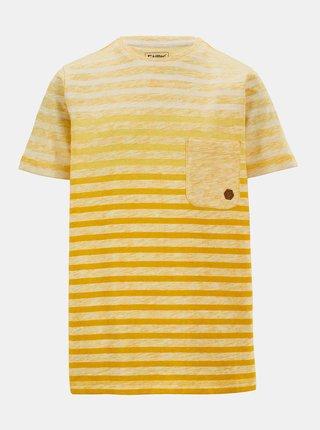 Žlté chlapčenské pruhované tričko killtec