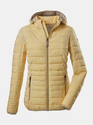 Žlutá dámská prošívaná bunda killtec