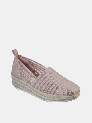 Skechers púdrové espadrilky s jutou Highlights 2.0 Homestretch Blush