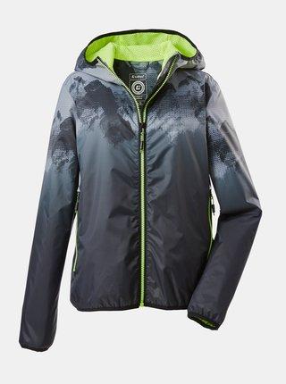 Čierna chlapčenská vodeodolná bunda killtec