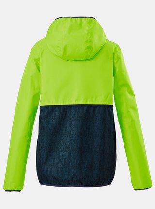 Zelená chlapčenská vodeodolná bunda killtec