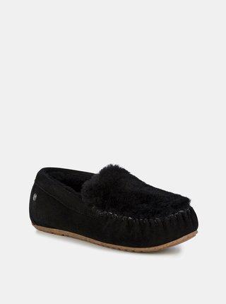 Emu čierne jesenné mokasíny Cairns Reerse Fur Black/Noir
