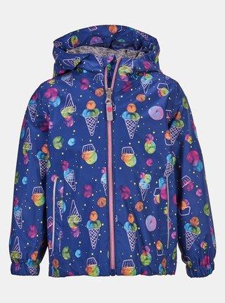 Modrá dievčenská vzorovaná bunda killtec