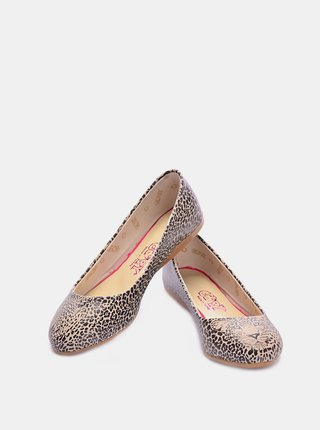 Goby vzorované baleríny Leopard Look