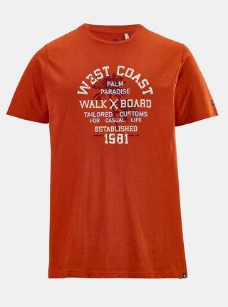 Oranžové pánske tričko s potlačou killtec