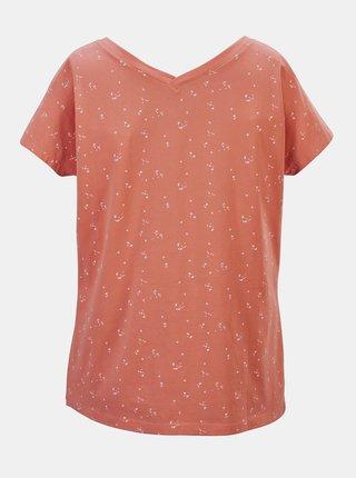 Oranžové dámske vzorované tričko killtec