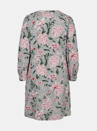 Šedé kvetované šaty Zizzi