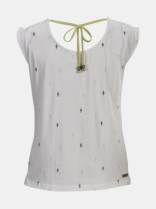 Biele dámske vzorované tričko killtec