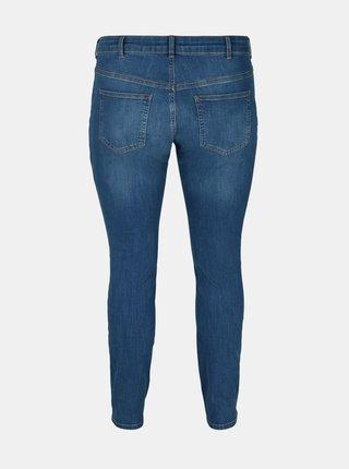 Modré skinny fit džíny Zizzi