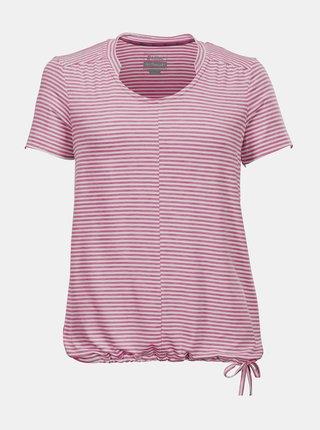 Ružové dámske pruhované tričko killtec