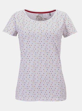 Biele dámske bodkované tričko killtec