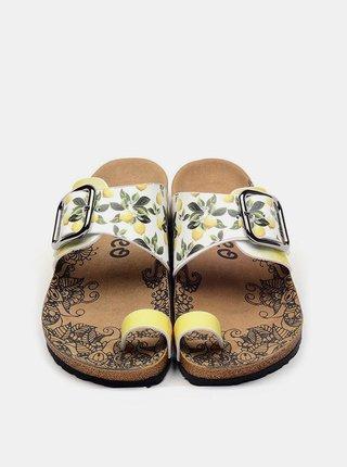 Calceo žlté sandále Thong Sandals Lemon