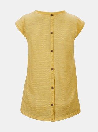 Žlté dámske tričko s gombíkmi na chrbte killtec