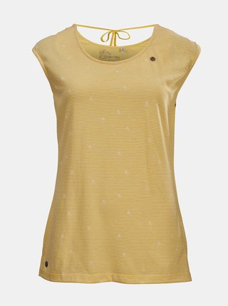 Žlté dámske vzorované tričko killtec