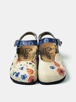 Calceo modré sandále Classic Sandals Wildflowers