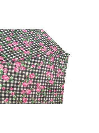 RSQ1912 Floral Walking Stics FA dámská vycházková hůl s deštníkem - Černá