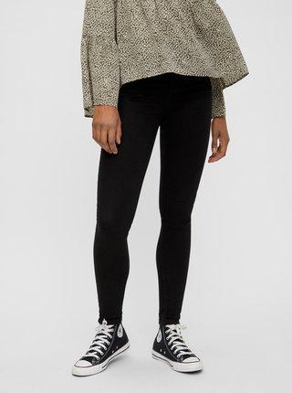 Černé skinny fit džíny Pieces