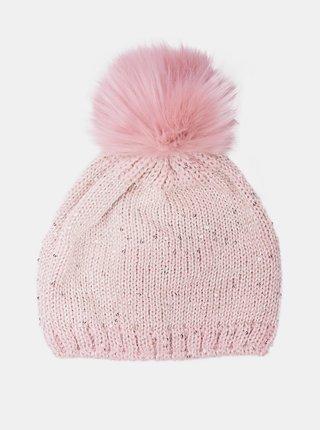 Differenta Design ružová dámska čiapka s brmbolcom