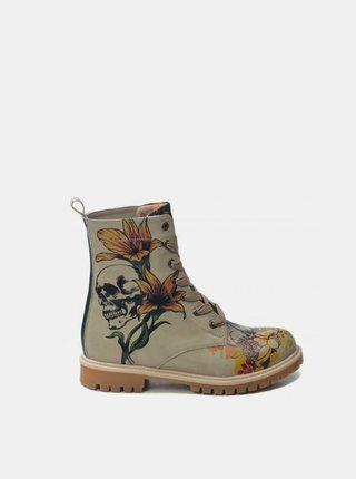 Goby béžové boty Lily Skull