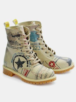 Goby béžové boty Army Airplane