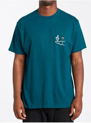 Billabong SIDEWINDER  DEEP TEAL pánské triko s krátkým rukávem - modrá