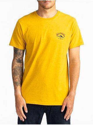 Billabong ARCH PEAK MUSTARD pánské triko s krátkým rukávem - žlutá
