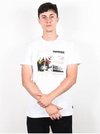 Billabong CRASH white pánské triko s krátkým rukávem - bílá