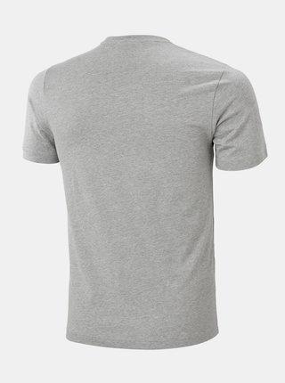 Šedé pánske tričko s potlačou HELLY HANSEN