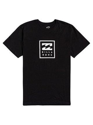 Billabong UNITY STACKED black pánské triko s krátkým rukávem - černá