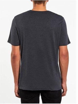 Volcom Trepid HEATHER BLACK pánské triko s krátkým rukávem - šedá