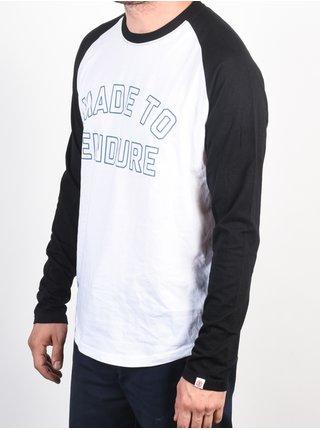 Element ROBUST RAGLAN FLINT BLACK pánské triko s dlouhým rukávem - bílá