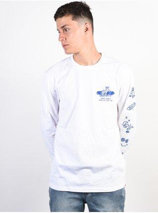 Element WHEELIN OPTIC WHITE pánské triko s dlouhým rukávem - bílá