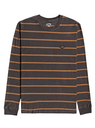 Billabong DIE CUT RAVEN pánské triko s dlouhým rukávem - hnědá