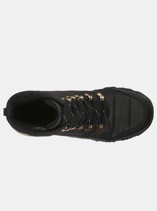 Skechers čierne zimné topánky Weekender Puffer Black/Gold