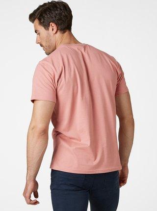 Ružové pánske tričko s potlačou HELLY HANSEN