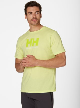Žlté pánske tričko s potlačou HELLY HANSEN