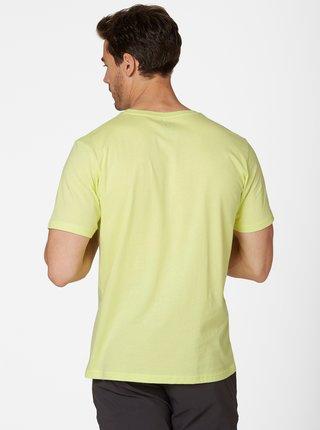 Světle zelené pánské tričko s potiskem HELLY HANSEN