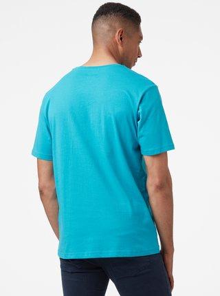 Modré pánské tričko s potiskem HELLY HANSEN