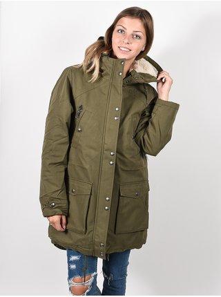 Volcom Walk On By olive zimní dámská bunda - zelená