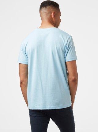 Svetlomodré pánske tričko s potlačou HELLY HANSEN