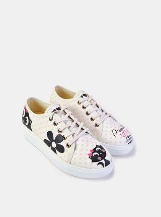 Goby bílé puntíkované tenisky Pretty Little Kitty