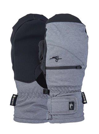 POW Cascadia GTX Short M GREY zimní palcové rukavice - šedá